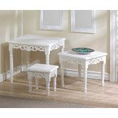 Found it at Wayfair - Cottage Chic 3 Piece Nesting Accent Tables