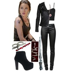 isabelle lightwood (dark sexy clothes and runes) Crop Top Outfits, Edgy Outfits, Classy Outfits, Outfits For Teens, Cool Outfits, Fashion Outfits, Isabelle Lightwood, Shadowhunters Outfit, Avengers Outfits