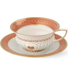 WEDGWOOD - Queen of Hearts teacup and saucer | Selfridges.com