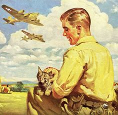 WWII 1943 Ad ~ STUDEBAKER Flying Fortress and Harry Ryan with his cat | eBay