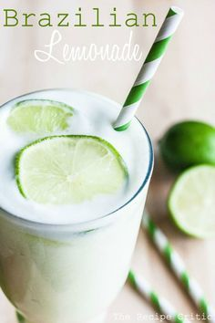 Brazilian Lemonade! A delicious and refreshing lemonade that is perfect for the summertime!