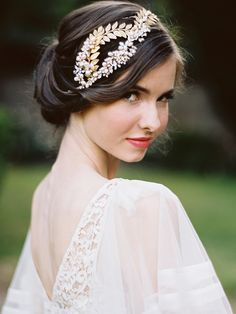 Bohemian Wedding Headpiece - Aphrodite. Available in silver and antique brass. Sample sale for a limited quantity offer!