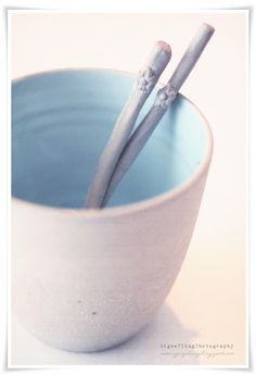 Stone and color cup - Mint - photographed by SignePling!!