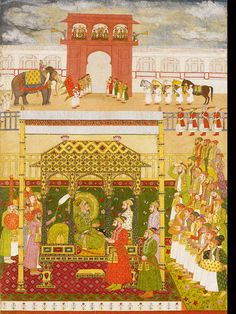 Bahadurshah I enthroned... attributable by bhavaani daas in 1707
