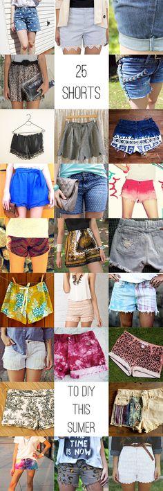 25 different DIY shorts