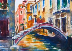 Painting a Venice Bridge Watercolor Painting Demo by Jennifer Branch - she has some great tutorials on her website!