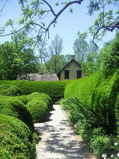 The formal garden of Ashland, Henry Clay's estate in ...