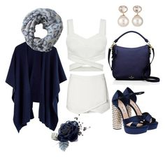"""blue-white outfit"" by kaja-232 ❤ liked on Polyvore featuring Witchery, Miu Miu, Kate Spade, Alva-Norge, Samira 13, white, Blue and sweet"