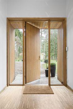 The post appeared first on Stauraum ideen. Modern Entrance Door, House Entrance, Modern Front Door, Home Interior Design, Exterior Design, Interior Architecture, Door Design, House Design, House Front Door