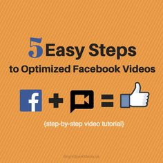 Facebook Videos: Upload videos directly to Facebook and Optimize Them in 5 Easy Steps (video tutorial) « Bright Spark Media – social media, video marketing, blogging, email marketing – training and setup for coaches, consultants and business owners