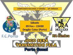 Hóquei em Patins: 1.ª Divisão  FC Porto vs HA Cambra  > 9 Fevereiro 2013 | 15h30  @ Pavilhão Dragão Caixa, Porto  _este jogo será transmitido pelo Porto Canal_