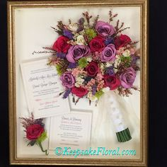 Gorgeous!! We would be honored to preserve the blooms from your special day! #floralpreservation #wedding #keepsakefloral