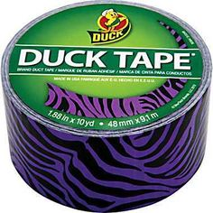 Purple Zebra Duck Tape 1 88 in x 10 yds Masking Tape, Washi Tape, Tapas, Duct Tape Colors, Purple Zebra, Duck Tape Crafts, Ladybug, Diys, Friday