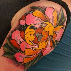 Peony flower neck tattoo by Elliott Wells Flower Neck Tattoo, Peony Flower Tattoos, Flower Tattoo Meanings, Beautiful Flower Tattoos, Peonies Tattoo, Flor Oriental Tattoo, Body Art Tattoos, Sleeve Tattoos, Flor Tattoo