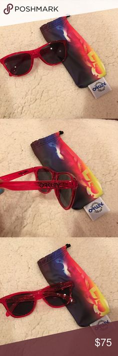 OAKLEY FROGSKINS Brand new Oakley Frogskins never worn, red frame, not polarized/iodized. Oakley Accessories Sunglasses