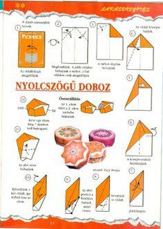 Origami egyszerűen - Képgaléria - Diagrammok - Kívánságok - 02.Nyolcszögletű teatasak-doboz
