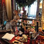 Christmas in Connecticut --  Quintessence || Lisa Hilderbrand holiday bar detail, New Canaan Holiday House Tour 2015
