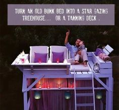 I want one-cool idea for after we don't need the bunk bed lol