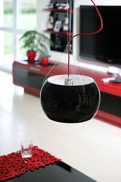 Beautiful pendant lamp from Sotto Luce - MOMO black / opal.