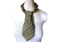 Necktie necklace EARTHLY RICHES feminine necktie by EstiloMargot