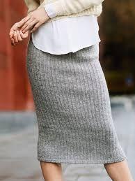 Bilderesultat for strikket skjørt i ribbestrikk