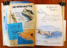 Landscape Sketch, Artist Journal, Watercolor Sketch, French Artists, Art Sketchbook, Travel Journals, Art Journals, Scrapbooking, Sketches