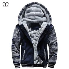 MK988 Mens Quilted Winter Bread Hooded Mid Length Zip Up Warm Puffer Jacket