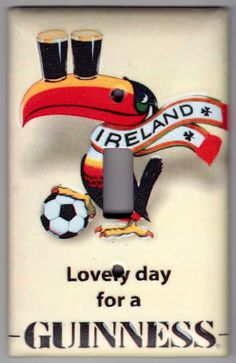 Lovely day for a Guinness Beer Poster Switchplate Cover - Single Regular size (403) by SpottedDogStudios on Etsy https://www.etsy.com/listing/93940551/lovely-day-for-a-guinness-beer-poster
