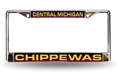 Central Michigan CMU Chippewas Maroon Laser Chrome License Plate Frame