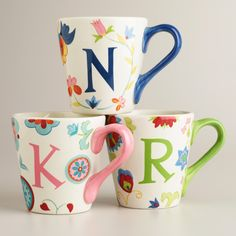 Cute Monogram Mugs