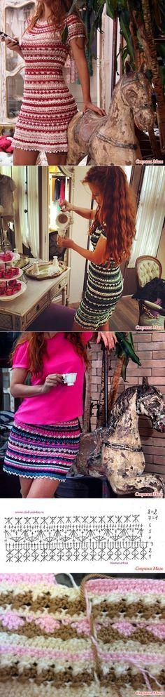 (1) theme - dress from Vanessa Montoro, described knitting mari 1984   Needlework   Вяжем 2   Постила