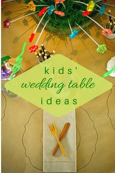 Entertain the wee ones in style with our 8 favorite kids' wedding table ideas. |#kidsweddingtableideas | #kidspartyideas | calderclark.com