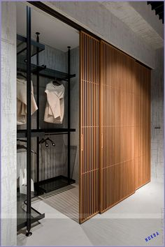 New monobrand store in Kiev, Ukraine. Photo © New monobrand store in Kiev, Ukraine.New monobrand store in Kiev, Ukraine.Bath a d closet comboNew monobrand store in Kiev, Ukraine. Wardrobe Design Bedroom, Closet Bedroom, Home Bedroom, Bedroom Decor, Wardrobe Interior Design, Bedroom Interiors, Bathroom With Closet, Wardrobe Wall, Closet Wall