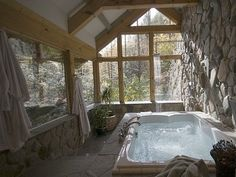 sun room jacuzzi tub bathroom.. for my dream mountain home.