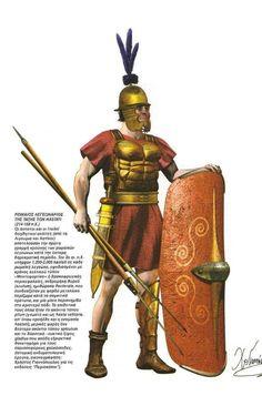 -0214 : -0168 Guerras Púnicas. Римский легионер-гастат, 214-168 года до н.э.