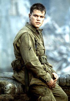 Matt Damon  As Private Ryan in Saving Private Ryan- one of the best films I've seen