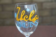 UCLA Bruins Wine Glass by GameDayCheers on Etsy, $12.00