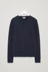 COS image 11 of Structured knit jumper in Navy Blue