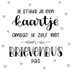 Happy Quotes, Me Quotes, Funny Quotes, Hand Lettering Fonts, Brush Lettering, Bff, Bullet Journal Quotes, Qoutes About Love, Dutch Quotes