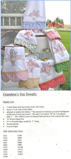 Embroidery Patterns - Erica's Craft & Sewing Center - missing my Memere. Embroidery Designs, Embroidery Transfers, Embroidery Stitches, Embroidery Patterns, Hungarian Embroidery, Brazilian Embroidery, Vintage Embroidery, Silk Ribbon Embroidery, Hand Embroidery