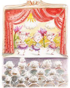 Theatre,  illustration by Ania Simeone