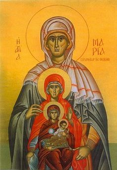 Theotokos and Fore mothers icon