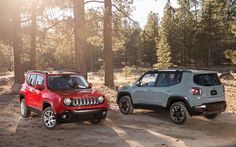The All-New 2015 Jeep® Renegade Latitude and Trailhawk® are at home in any setting.U.S. preproduction model shown.