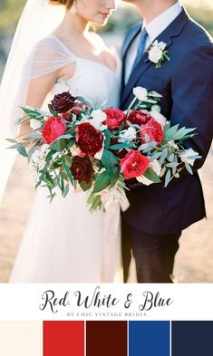 The 277 best red white blue weddings images on pinterest in 2018 a chic red white blue colour palette for a 4th of july wedding mightylinksfo