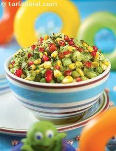 Green Pea and Corn Bhel recipe   by Tarla Dalal   Tarladalal.com   #30846
