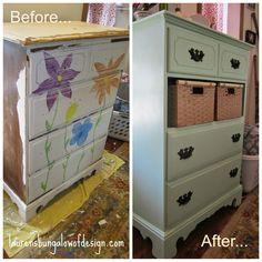 Transformation Tuesday: Dresser Upgrade.   www.laurensbungalowofdesign.com