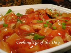 Cooking Tip of the Day: Recipe: Sweet and Sour Pork