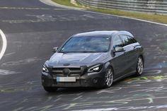 Facelifted Mercedes-Benz CLA Shooting Brake Seen On Nürburgring on http://www.benzinsider.com