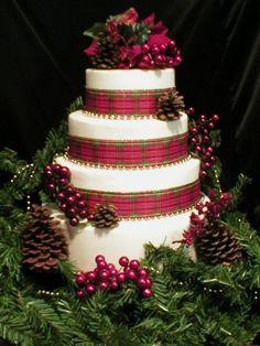 Tartan Christmas Cake