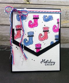Handmade card by Vickie Zimmer using the Jolly Jingles stamp set from Verve. #vervestamps